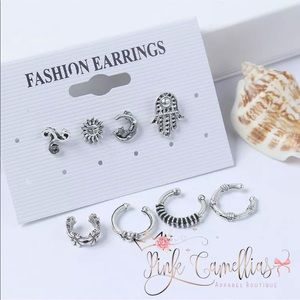 🌸BOHO Retro Ear Stud Clip/Pierced Earrings